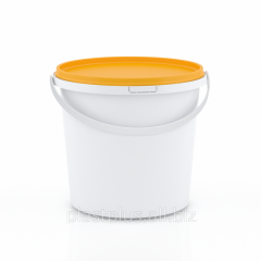 Bucket round 1,0 l with the orange cover