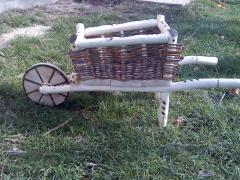 The cart decorative for flowers