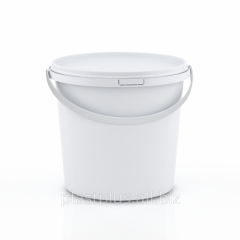 Bucket round 1,0 l with white with cover