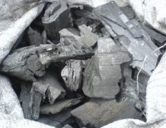 Древесный уголь крупной фракции