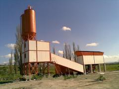 Concrete mixing plant of SB-145-4 (concrete plant)