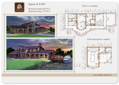 Project of the wooden house