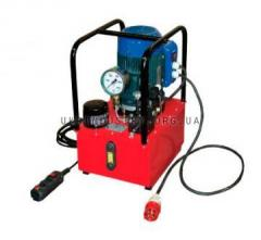 Hydraulic manual pumps, maslostantion with electro