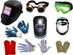 Маски сварщика, очки сварщика, очки токаря, щитки