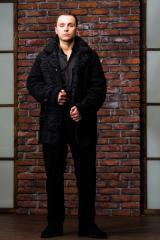 Men's fur coat from a broadtail, exclusive