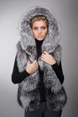 Vests from fur of a polar fox Kiev.