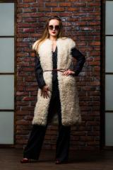 Vest from fur of a lama