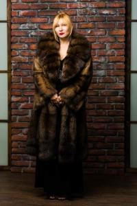 Short fur coat from a sable