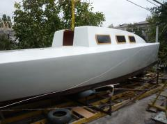 Парусная деревянная яхта 2013
