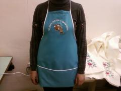 The embroidered aprons