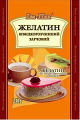 To buy gelatin, edible gelatin in Ukraine