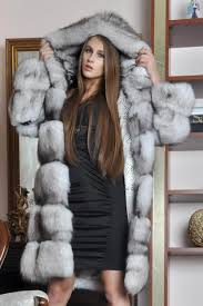 Tailoring of a fur coat from the silver fox