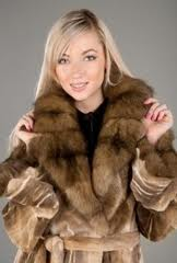 Fur coats are exclusive.