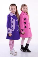 Пальто детское со шляпой «Маки»  Размер Метрики