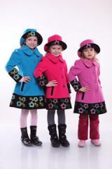 Пальто детское со шляпой катя