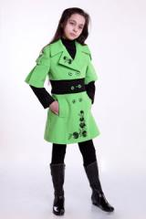 Пальто подростковое «Хризантема»  Размер