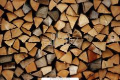 Firewood is chipped dry oak