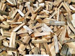 Firewood is dry technological oak