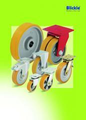 Большегрузные колеса и ролики с литым