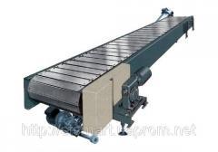 Apron conveyer, conveyor