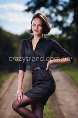 Платье Линда черное. Женская одежда оптом