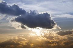 Фотокартина на холсте.Облака.