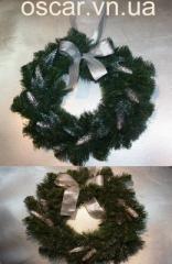 Венок рождественский Серебро