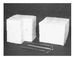 Blocks from a keramovolokn of PYRO-BLOC