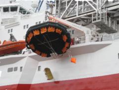 Рятувальні плоти в склопластикових контейнерах