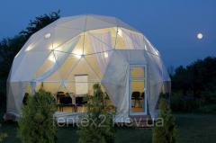 Pvc of tent, tents, a nakrytiya, dome designs from