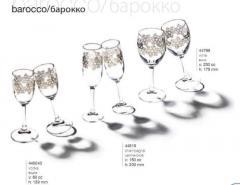 Shot glasses, wine glasses, glasses, ware of