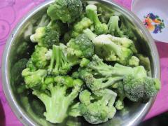 The cabbage of broccoli frozen. The frozen...