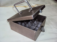 Case tray for transportation of serum with a