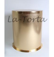 Упаковка для торта золото/лен