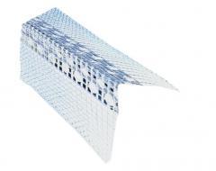 Corner aluminum with a glued grid