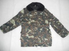 Jackets camouflage warmed