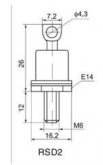 Силовые низкочастотные диоды - Диод Д122-32-3