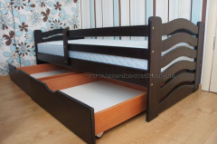 Beds wooden, a children's single bed from a