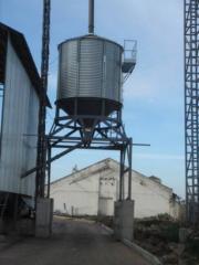 Silo (granary) for shipment on motor transport