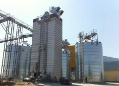 Granary BIN from the metal ventilated silos