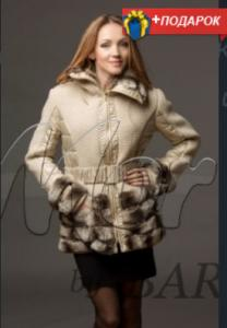 Light overcoat with Rex's fur (fashions.