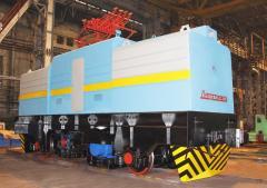 Вагонотолкатель Т22П2, Т20 для надвига и установки железнодорожных полувагонов в стационарные вагоноопрокидыватели типа ВРС и ВБС при разгрузке составов, пр-во Днепротяжмаш, Украина