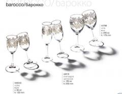 Wine glasses for champagne, Turkey
