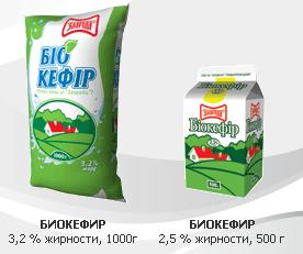 """Био-кефир 2,5 и 3,2% жирности – кисломолочный продукт очень богат кальцием, в котором регулярно нуждается наш организмпр-во ТМ """"Злагода""""."""