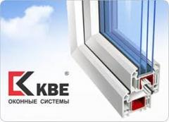Buy a two-chamber double casement window of KBE in