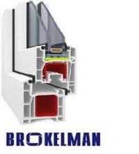 Двухкамерное окно+дверь Brokelman купить в Киеве