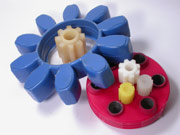 Polyurethane couplings and gear wheels