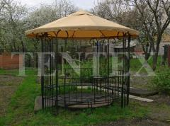 Tent-nakrytiye on the round forged arbor.