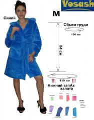 Женский халат махровый однотонный VoSash
