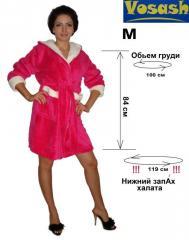 Женский халат махровый с белыми вставками VoSash